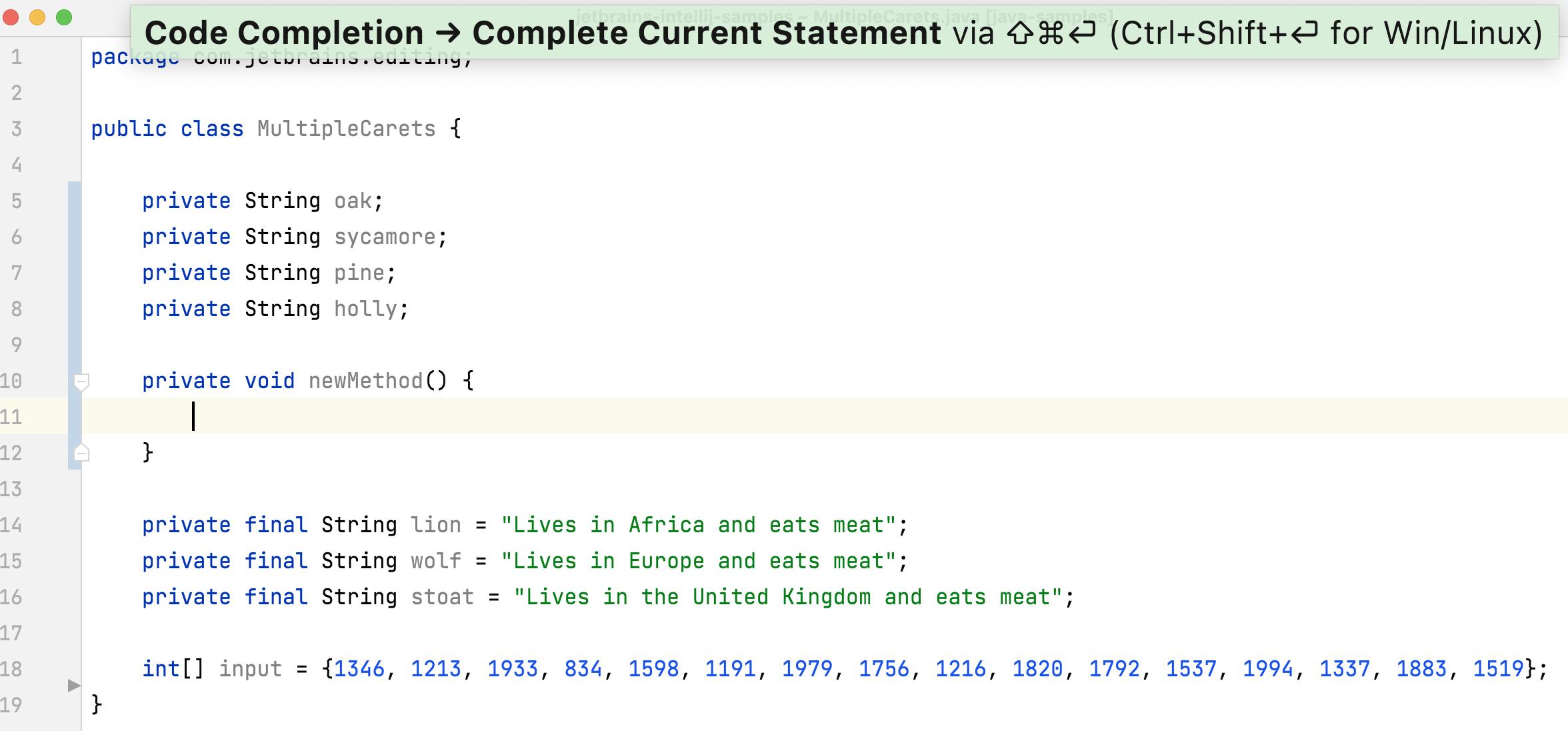 Statement Completion - add brackets