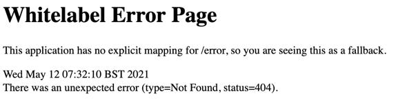 White label 404 response